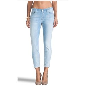 7 for All Mankind Lt Blue High Rise Skinny Jeans